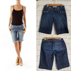 Freedom of Choice Dark Blue Denim Bermuda Shorts